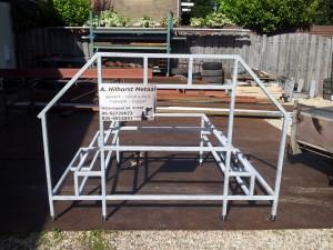 Chalet trap in opdracht voor de opdrachtgever gemaakt.