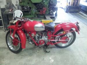 Aanpassing aan antieke motor behoort ook tot de opties!